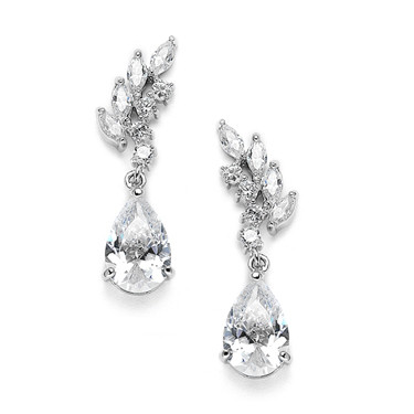 Garbo Vintage styled diamante earrings