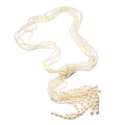 Francine  Baroque Long Pearl Necklace