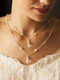 Backdrop bridal necklace from the front