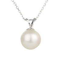 Classic freshwater pearl pendant - gorgeous bridal necklace