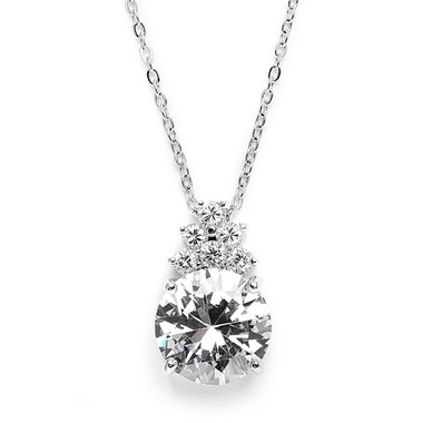 Eliza striking simulated diamond pendant perfect for bridal or evening wear jewellery
