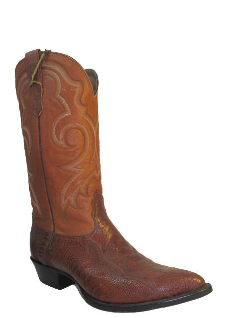 be346188011 Nocona Men's Western Ostrich Leg Cowboy Boots1087 Tan