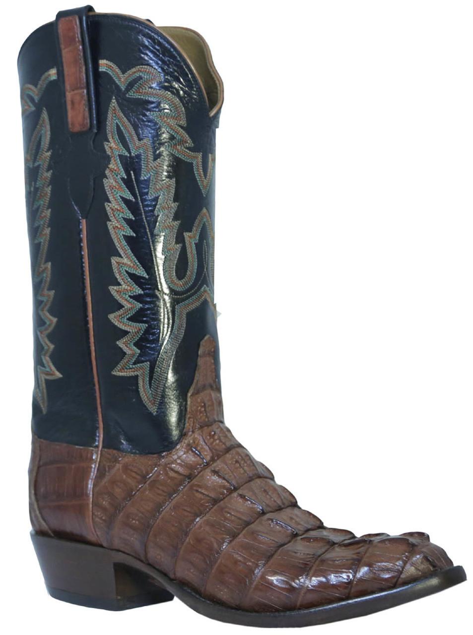 3ef887dd57c Men's Lucchese L1326.23 Classics Caiman Crocodile Cowboy Boots, Cognac