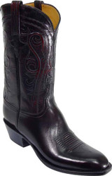 Men's Lucchese Classics Black Cherry Buffalo Boots L1580