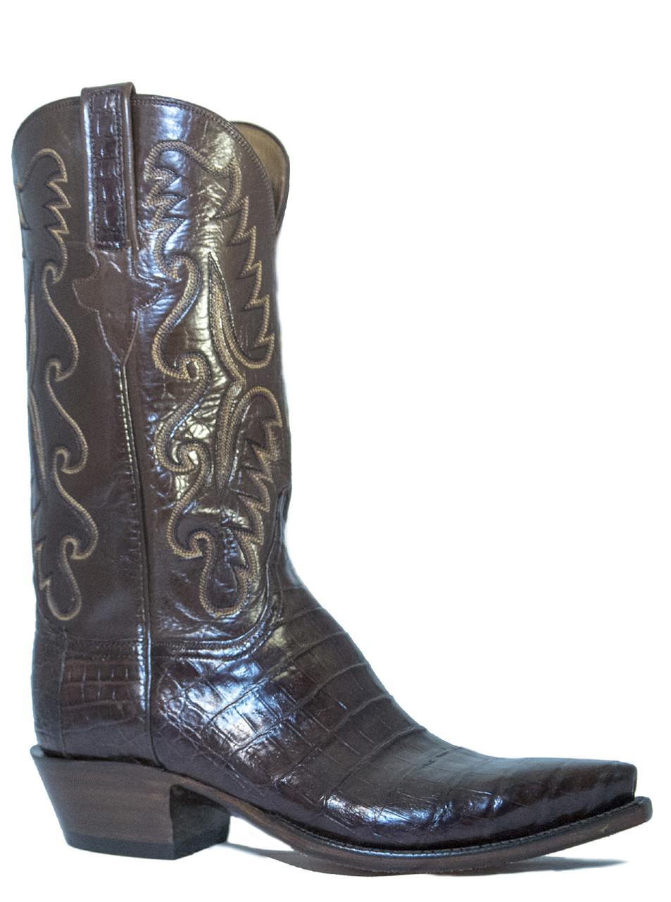 07706748c5a Lucchese Men s E2145.54 Classic Caiman Belly Crocodile Cowboy ...