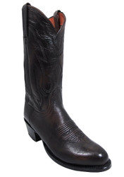 "Men's 13"" Lucchese 2000 T3099 Lone Star Calf Arturo Stitch Antique Walnut"