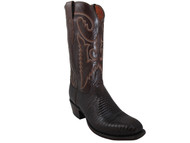 Men's Lucchese T6193.S4 Cigar Lizard/Antique Brown Buffalo Boots
