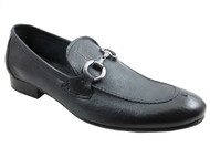 Davinci 1339 Men's Baby Soft Leather Italian Slip on Shoes Blue and Brown