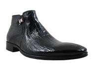 Men's Italian Giampero Ankle Boots 1422 Alligator Skin in Black, Brown