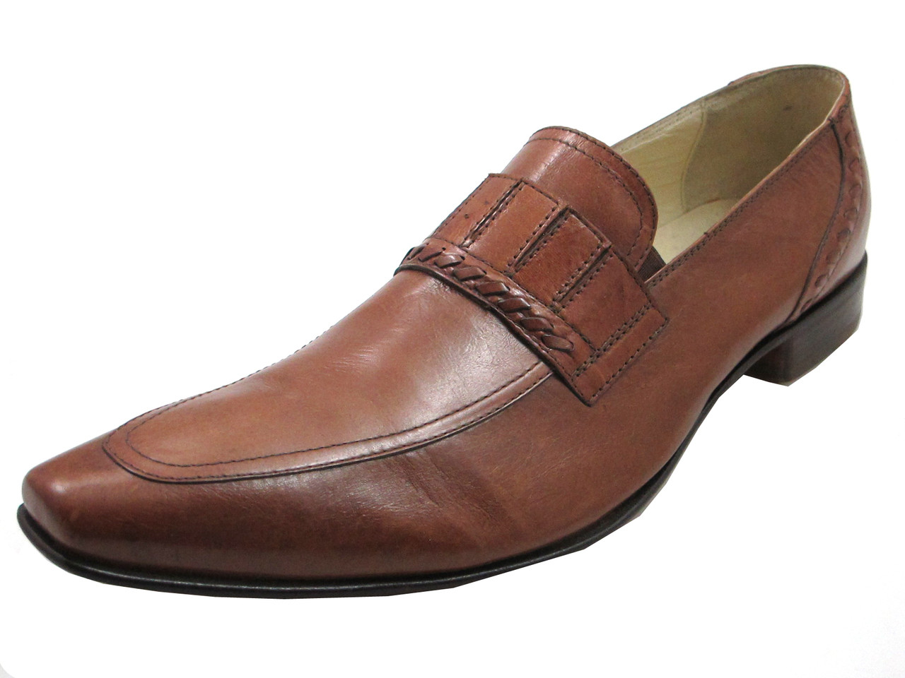 Giampiero Ncola 11093 Menu0026#39;s Italian Loafers Brown - Davinci Shoes New York