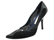 Pura Lopez 942 Women's Perforated Mesh Mid Heel Pump, Black
