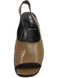Santa Borella 7213 Women's Italian Leather Slingback Sandals, Tan