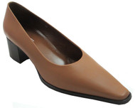 Davinci 4140 Women's Italian Pointed Toe Low Heel Shoes in Tan