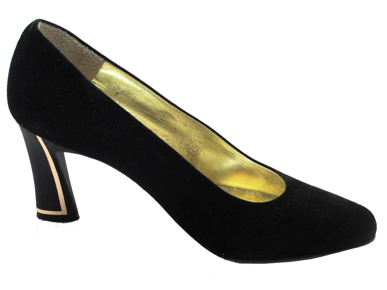 a60c846fa4d Linea Barbarella 1073 Women s Italian Mid Heel Pump In Black And Brown