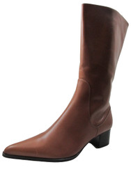 DA'VINCI 4094 Women's Italian Leather Dress/Casual Low squre Toe Boot