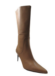 DA'VINCI 4064 Women's Italian Leather Dress/Casual Mid Heel Pointy Toe Boot