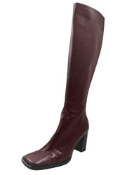 Dominici Women's 2036 Knee High Mid Heel Zip Up Boots, Bordo