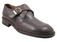 Frontiera Men's 17836 Italian Leather Monk Strap Dress Casual in Brown
