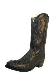 Dan Post men's Crocodile Hornback Cowboy boot 2375 Black