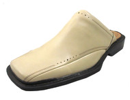 Giorgio Brutini Men's 657299 Square Toe Open Back Slip On Shoes in Beige