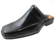 Giorgio Brutini Men's 657291 Square Toe Slip on Open Back Shoes in Black