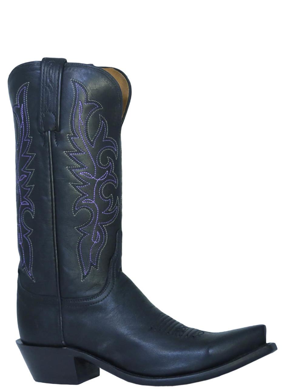 8b4cb1c2f1d Women's Lucchese 1883 NV4001.S54 Cowboy boots Black Jersey Calf