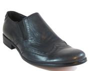 Davinci Men's slip on Italian Leather Shoes 8404 Black