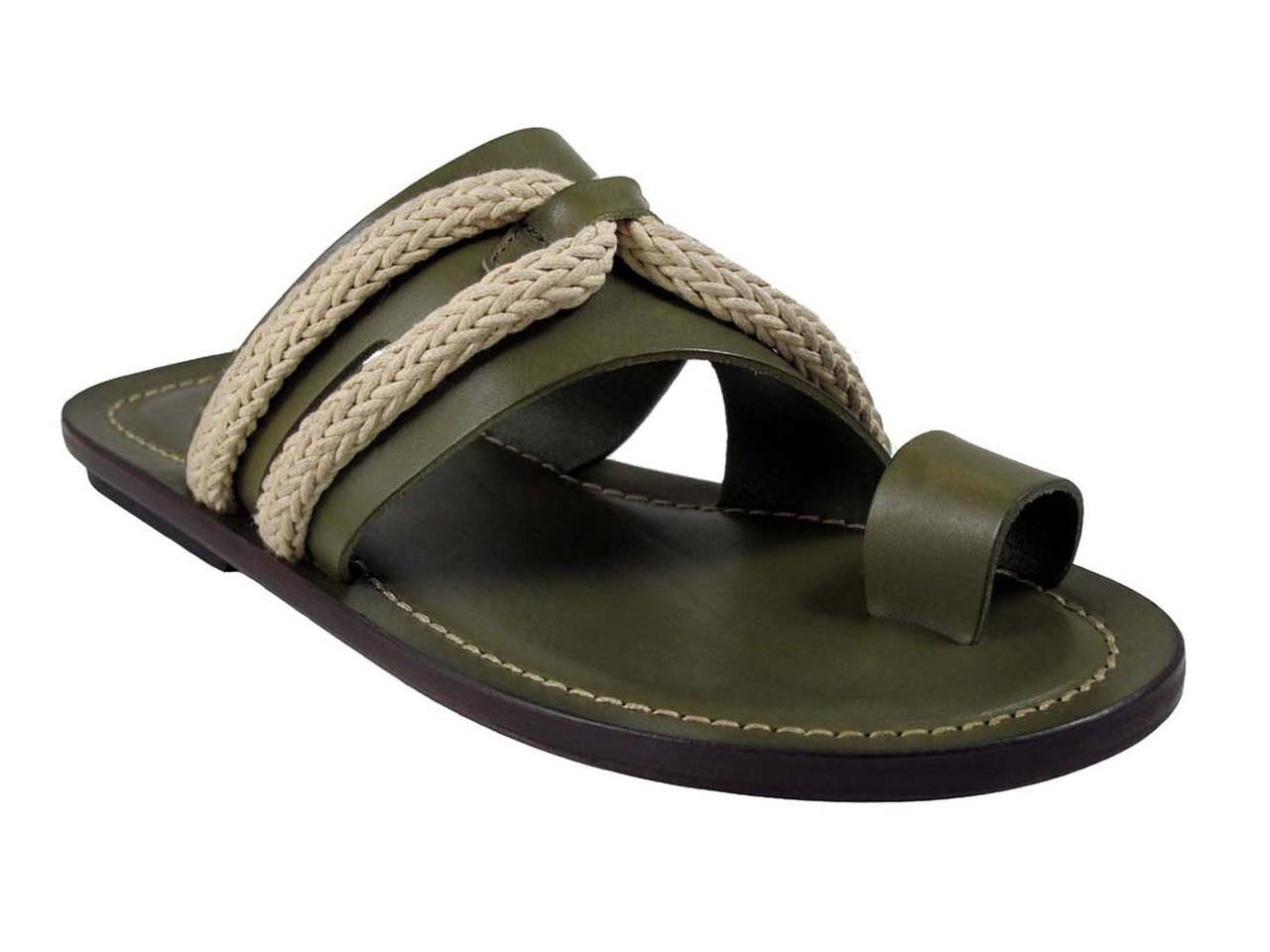 fd47706752f Davinci 3546 Men s Braided Rope Italian Leather Push in Toe Sandals ...