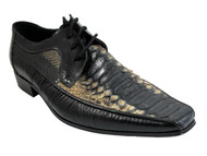 Men's Davinci 39195 Italian lace up multi color snake skin shoes