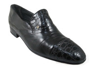 Via Veneto 7817 Men's dressy Slip on  Alligator shoes