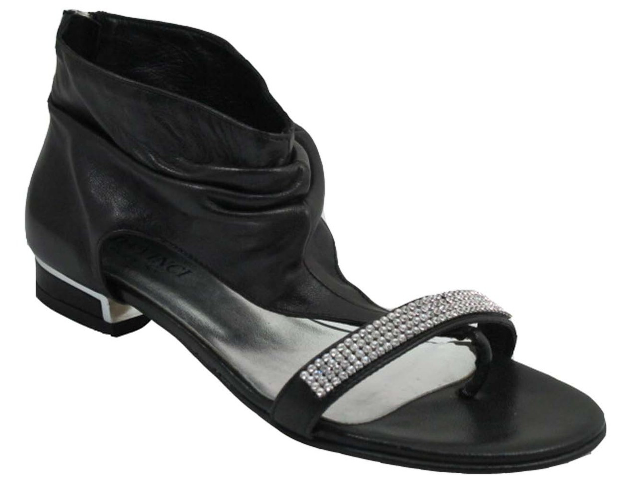 b4c8d5a225b705 Davinci 2882 Women s Ankle flat sandals with sparkling strip of stones
