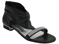 Davinci 2882 Women's Ankle flat sandals with sparkling strip of stones