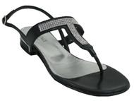 Davinci 2769 Women's Italian designer Flat sandals with sparkling stones