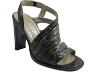 Davinci F89 Women's Strappy Sandal snake skin in Black/Grey