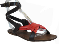 Lamica 3086 Italian Leather Sandal With Strap Around The Ankle