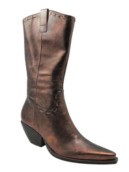 BCBG  Women's Tubina Mid Calf Boots Bronze