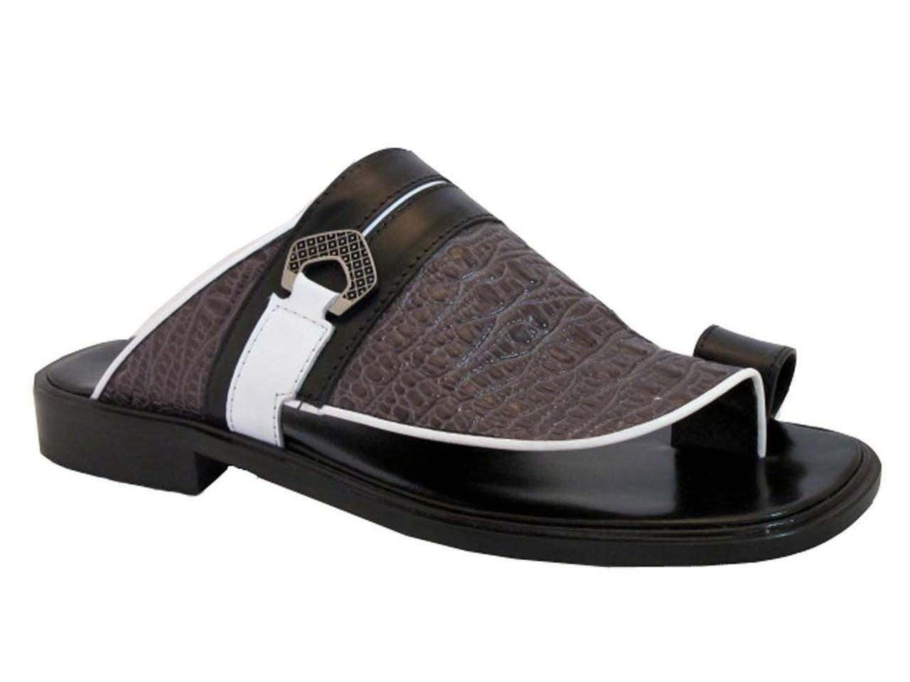 6c612964a Davinci 3984 Men s Italian Leather Push In Toe Sandals