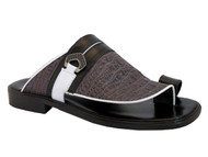 Davinci 3984 Italian Men's Push In Toe Sandals
