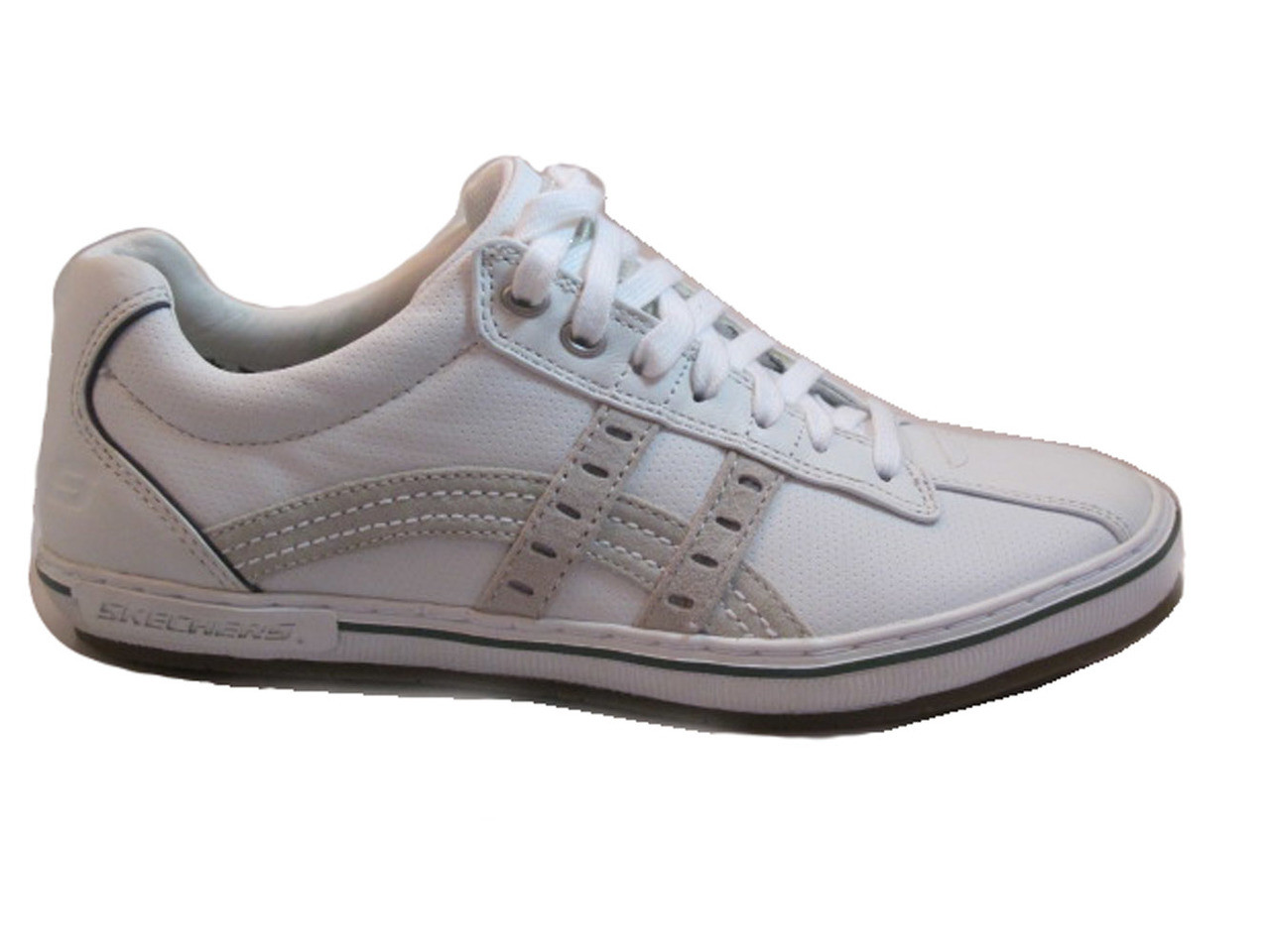 db90be0cb30b Skechers Men s lace up sneakers White Merric- Briano 61233 - Davinci ...