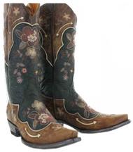 Old Gringo Women's L696-10 Bonnie Pipin  Western Boots,Black/Bone