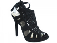 Women's Davinci Italian Dressy High Heel Sandals Black 3787
