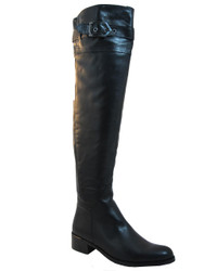 Women's Davinci OverThe Knee Italian Leather  boots Imolia Black