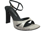 Caravelle 7082 Women's Italian High Heel Sandal  Light Blue Lizard