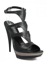 Women's Biondini Dressy High Heel Leather Italian Sandal 7575