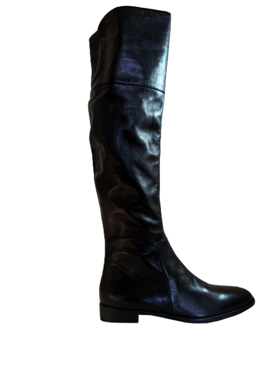 3f0113e6cf3a Women s Davinci Italian Leather 2667 Flat Knee High boots Black By ...