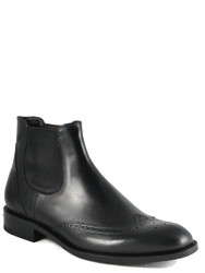 Men's Davinci Italian Wingtip Slip On Boot 9444 Black