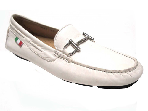 Menu0026#39;s Italian Driving Moc Boemos 9680 Brown Off White