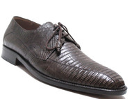 Mezlan Men's 3020 Lizard Lace Up Shoes Brown