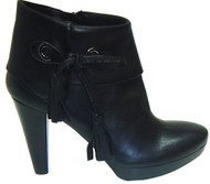 Women's  Leather Italian Designer Ankle  Boot Black  1056 Seller