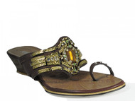 Women's Leather Sandals Linda With Big Stone By Juno